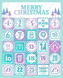 Countdown Calendar for Christmas Printable