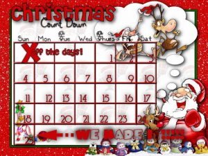 Countdown Christmas Calendar Printable