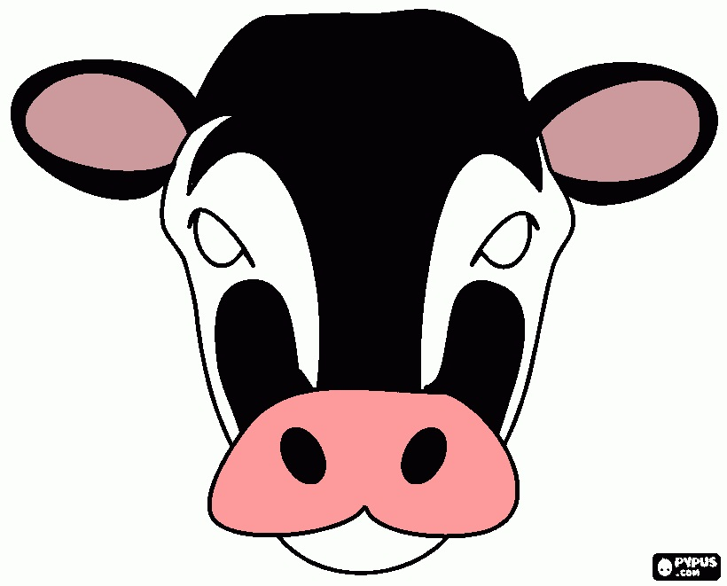 Cow Mask Printable