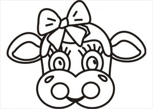 Cute Printable Cow Mask