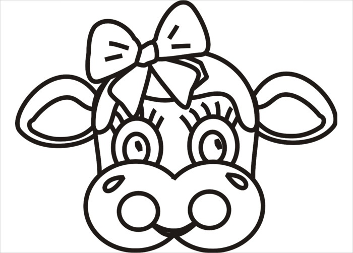 photo relating to Printable Cow Mask identified as 11 Humorous Cow Mask Printables