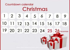 Days till Christmas Countdown Calendar