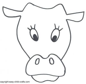 Easy Cow Mask Printable