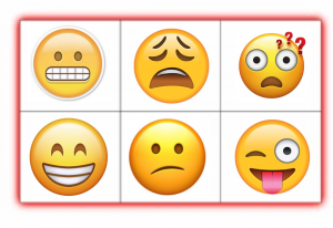 picture regarding Emoji Feelings Printable titled 14 Lovable Emoji Bingo Printables