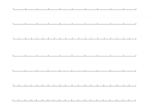 Empty Number Line Printable