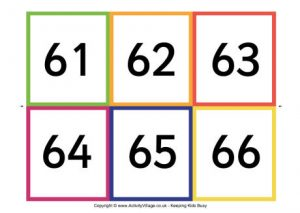 Everyday Math Number Cards Printables