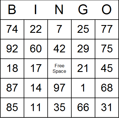 graphic about Printable Bingo Cards 1-75 referred to as 21 Intricate Printable Quantity Playing cards