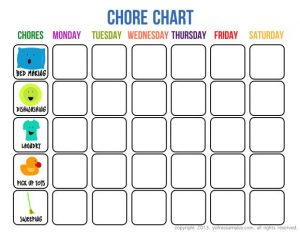 Free Printable Chore Chart for Kids With Pictures
