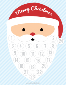 Free Printable Countdown to Christmas Calendar