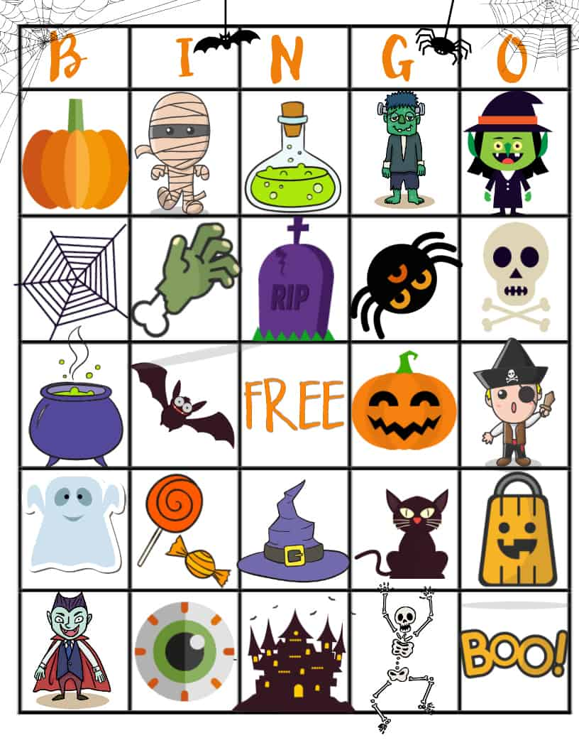 photograph about Free Printable Halloween Bingo named 21 Eerily Thrilling Halloween Bingo Playing cards