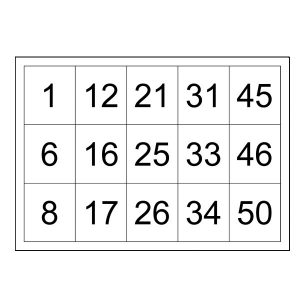 Free Printable Number Cards 1-50