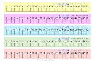 Free Printable Number Line to 30