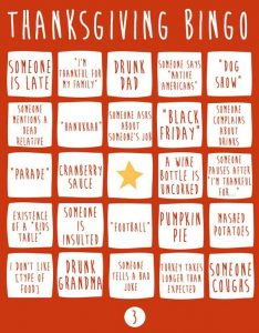 Free Printable Thanksgiving Picture Bingo Cards