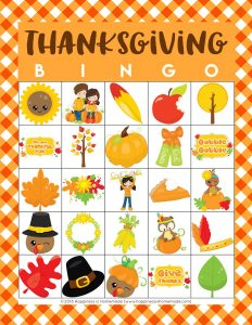 Free Thanksgiving Bingo Game Printable