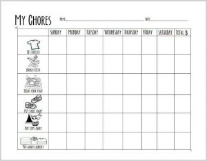 Morning Printable Chore Chart