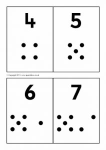 Number Matching Card Printables