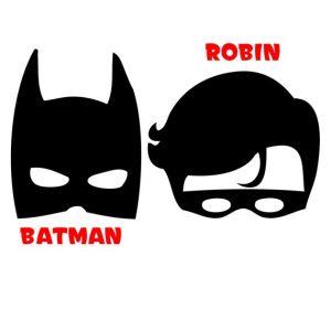 Printable Batman and Robin Masks