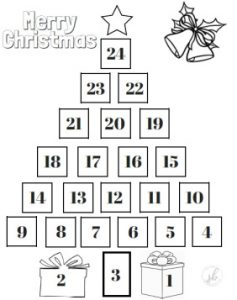 Printable Christmas Tree Countdown Calendar