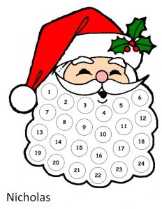 Printable Countdown Christmas Calendar
