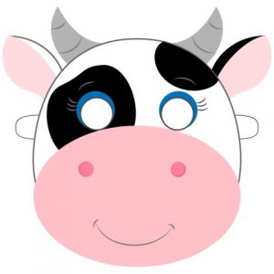 graphic regarding Printable Cow Costume identify 11 Amusing Cow Mask Printables