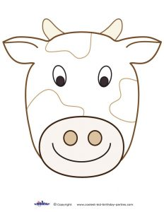 Printable Cow Mask Template