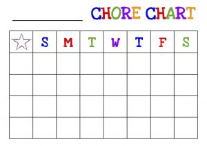 Printable Daily Chore Chart List for Preschoolers