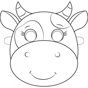 Printable Mask of Cow