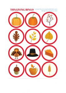 Thanksgiving Bingo for Preschoolers
