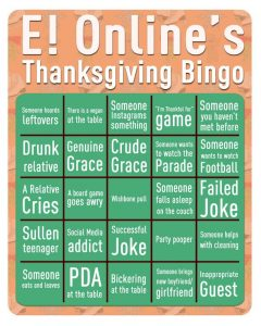 Thanksgiving Family Bingo