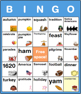 Thanksgiving Parade Bingo Cards