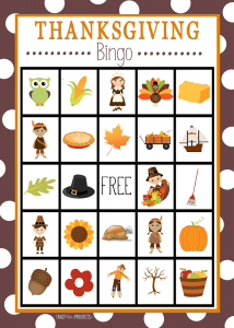 Thanksgiving Turkey Images Bingo Download