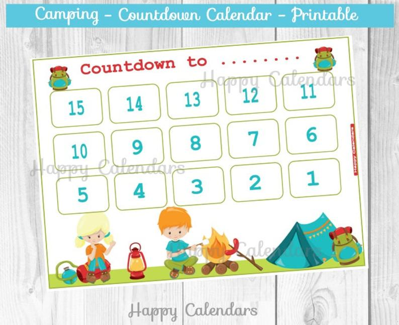 Vacation Countdown Calendar Printable
