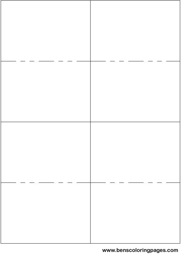 Double Sided Flash Card Template from www.kittybabylove.com