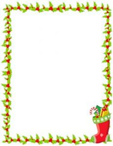 Free Christmas Border Templates