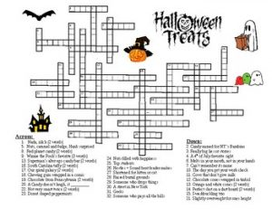 Halloween Crossword Puzzles for Adults