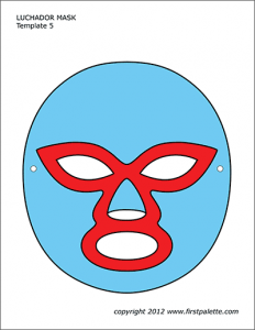Images of Luchador Mask Template