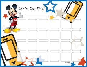 Mickey Mouse Potty Training Chart