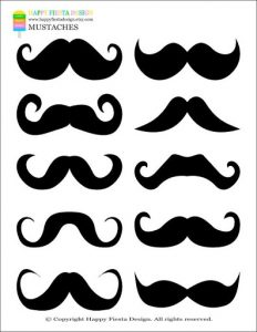 Printable Mustache Pictures