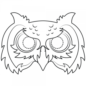 Easy Owl Mask Template