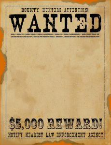 Free Printable Wanted Poster