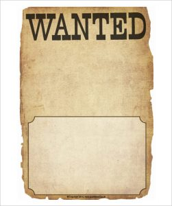 Free Wanted Poster Template for Kids
