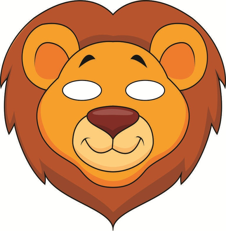 It is a photo of Printable Lion Masks intended for outline