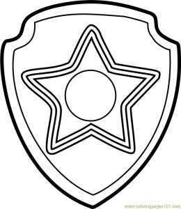 Paw Patrol Chase Badge Template