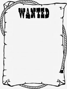 Printable Wanted Poster Black and White