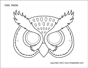 Snow Owl Mask Template