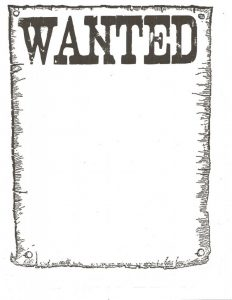 Wanted Blank Poster Template
