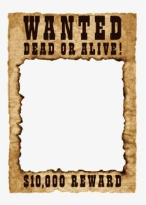 Wanted Dead or Alive Poster Free Template