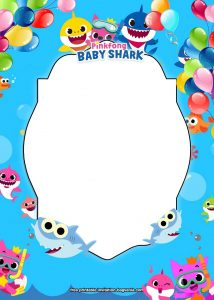 Baby Shark 1st Birthday Invitations