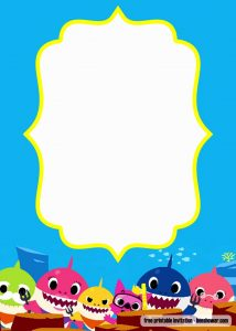 Baby Shark Birthday Party Invitations