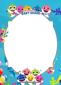 Baby Shark Printable Birthday Invitations